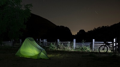 Outside camping