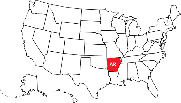 Arkansas facts for kids geographical map