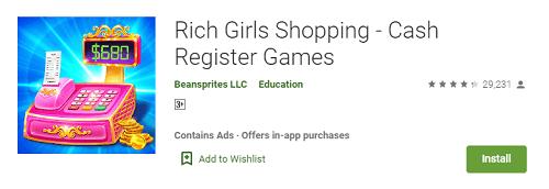 cash register games for girls
